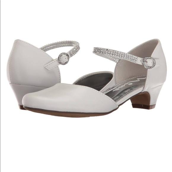 Nina Shoes | White Dress Flower Girl